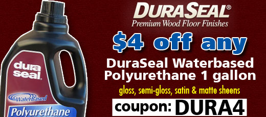 DuraSeal Waterbased Polyurethane finishes