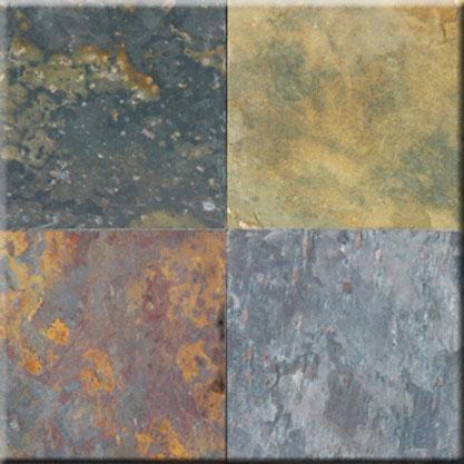 12x12 Slate Kund Multicolor Gauged