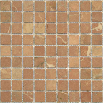Marble 1x1 Rojo Alicante Tumbled Marble Mosaic Tile A