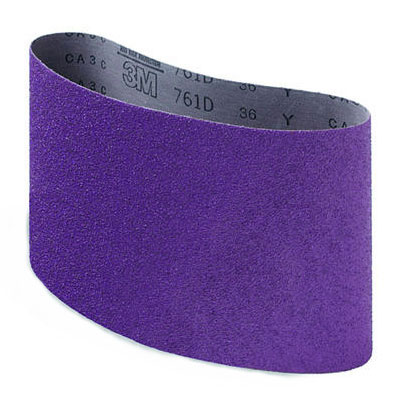 3M Regalite Resin Bond Cloth Purple Sanding Belt 04147, 80Y Grit, 7 7/8 in x 29 1/2 in
