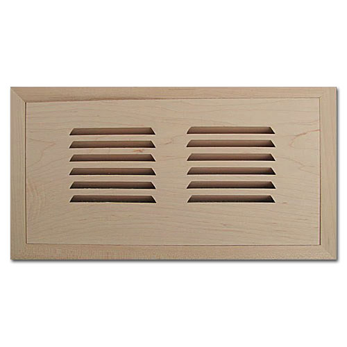 Maple Wood Vent Flush Mount With Damper 4x10