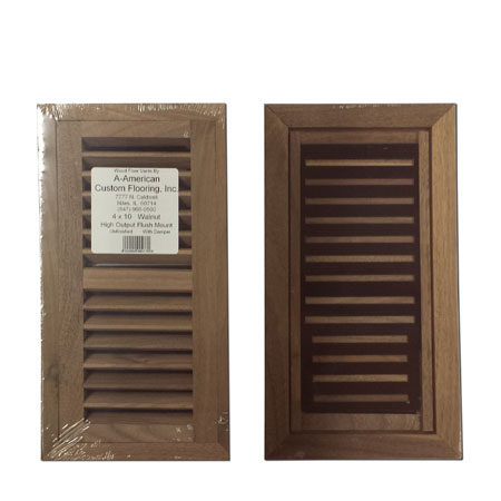 American Walnut Wood Vent Flush Mount With Damper 4