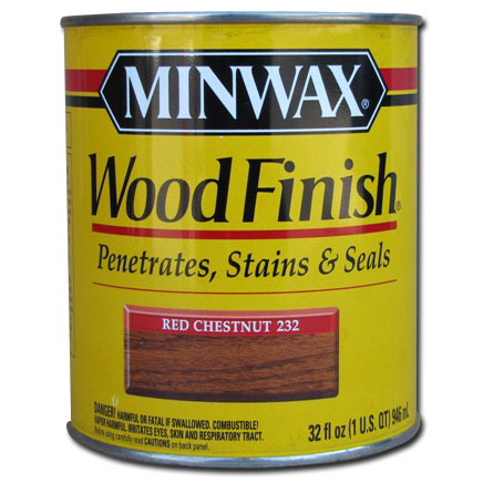 Minwax Stains : Minwax Wood Finish Stain Red Chestnut 232 1 qt : A ...