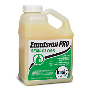 Basic Coatings Emulsion PRO Semi-Gloss Wood Floor Finish & Sealer 1 gal