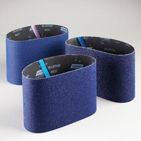 Norton Abrasives BlueFire Floor Sanding Belts 24 Grit, 19974, R831, 7 7/8 in x 29 1/2 in