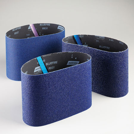 Norton Abrasives BlueFire Floor Sanding Belts 80 Grit, 19970, R831, 7 7/8 in x 29 1/2 in