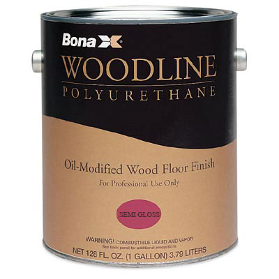 Bona Woodline Polyurethane Wood Floor Finish Semi-Gloss 1 qt
