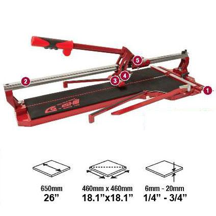 Dta Boss Pro 26in Tile Cutter Bpro 650