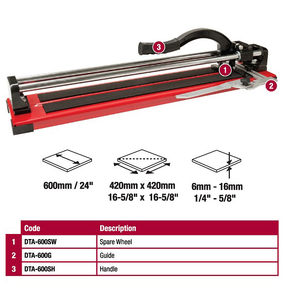 DTA Professional 24in Diamond Tile Cutter DTA-600