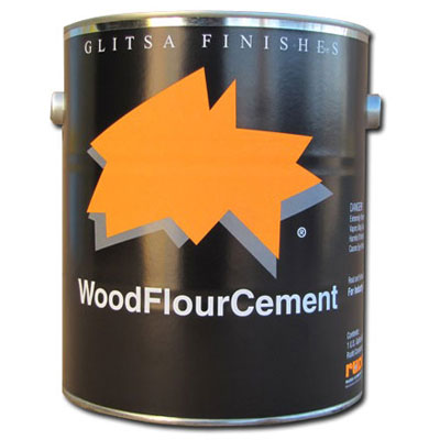 Glitsa Wood Flour Cement 1 gal