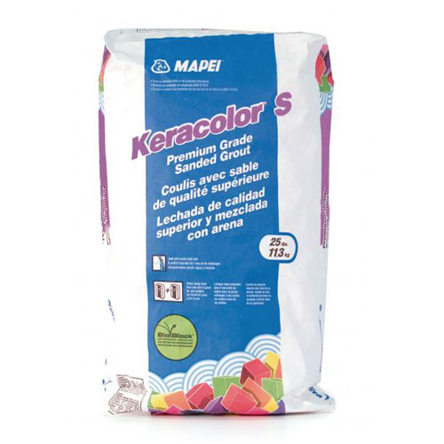 Mapei Keracolor S Silver 22725 Sanded Grout 25 lbs