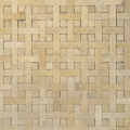 12x12 Angelica Basket Weave Mesh MM10 Travertine Mosaic