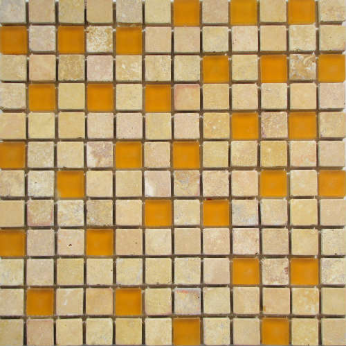 1x1 Hawaii Blend Glass and Stone Mosaic Tile