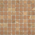 1x1 Rojo Alicante Tumbled Marble Mosaic