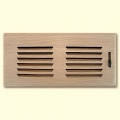 White Oak Wood Vent Drop In With Damper 2x10