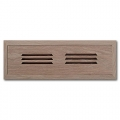 Red Oak Wood Vent Flush Mount With Damper 2