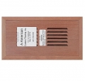 Santos Mahogan Wood Vent Flush Mount With Damper 4
