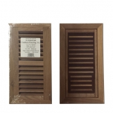 American Walnut Wood Vent Flush Mount With Damper