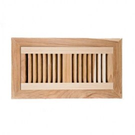 Hickory Wood Vent Vertical Flush Mount With Damper