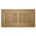 Red Oak Wood Vent Flush Mount 4