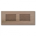 Red Oak Wood Vent Flush Mount With Damper 4