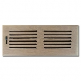 White Oak Wood Vent Drop In 6x10 No Dampers