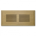 White Oak Wood Vent Flush Mount 6