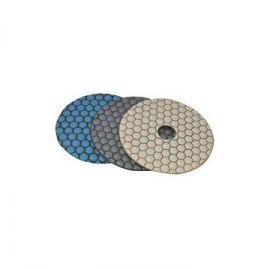 DTA Premium Dry 4in 50 Grit Blue Diamond Polishing Pads PPD4-0050