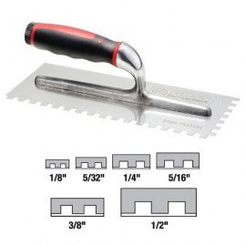 DTA Square Notched Stainless Steel Adhesive Trowel 1/4 in SSTR6