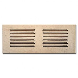 Maple Wood Vent Drop In 6x10 No Damper
