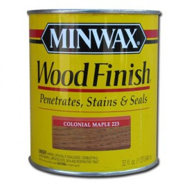 Miniwax Wood Finish Stain Colonial Maple 1 qt
