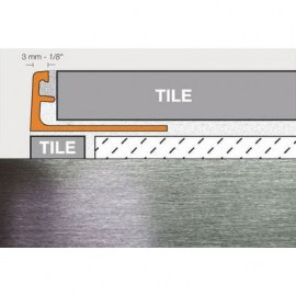 Schluter Jolly Trim A125-ACGB Brushed Chrome Anodized Aluminum