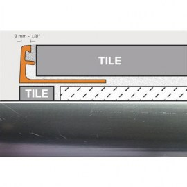 Schluter Jolly Trim A80-ACG Polished Chrome Anodized Aluminum