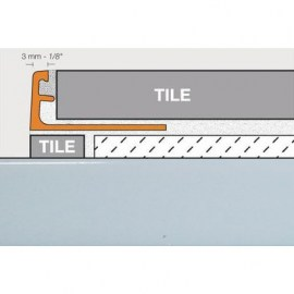 Schluter Jolly Trim A80-BW Bright White Anodized Aluminum