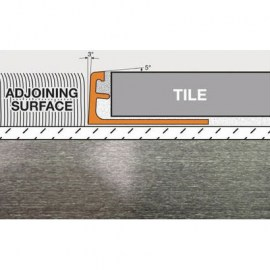Schluter Schiene Edge Trim A100-ATB Brushed Nickel Anodized Aluminum