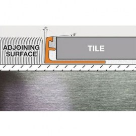 Schluter Schiene Edge Trim A125-ACB Bright Chrome Anodized Aluminum
