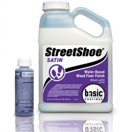 Basic StreetShoe Satin Waterbased Wood Floor Finish 1 gal
