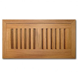 Brazilian Cherry Wood Vent Flush Mount With Damper 4x10