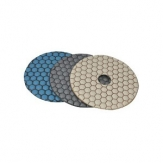 DTA Premium Dry 4in 100 Grit Yellow Diamond Polishing Pads PPD4-0100