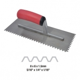 DTA V-Notch Carbon Steel Adhesive Trowel BSTV5-16