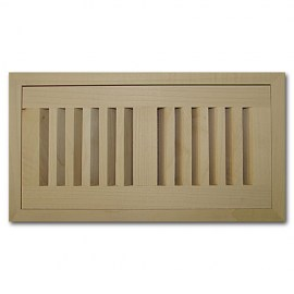 Maple Wood Vents Flush Mount With Damper 6x10