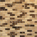 Mini Brick, Dark Emperador, Light Emperador Marble Mosaic