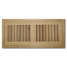 Red Oak Wood Vent Flush Mount With Damper 4x10
