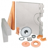 Schluter Kerdi Shower Kit 32x60 Stainless Steel PVC KK81152PVCE
