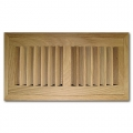 White Oak Wood Vent Flush Mount With Damper 4x10