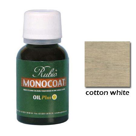 Rubio Monocoat Natural Oil Plus Finish Cotton White