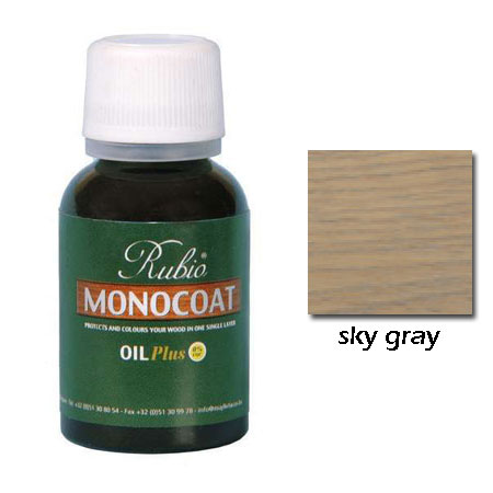 Rubio Monocoat Natural Oil Plus Finish Sky Gray