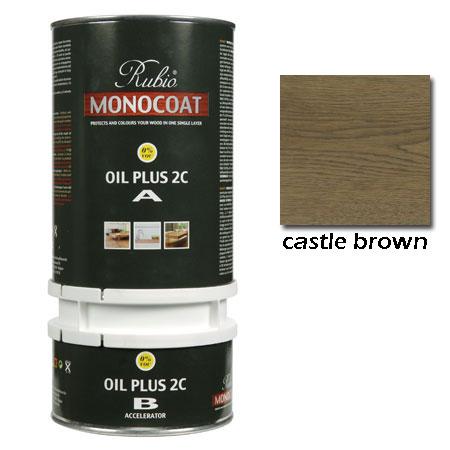 Rubio Monocoat Oil Plus 2C Finish Castle Brown 1.3 Liters