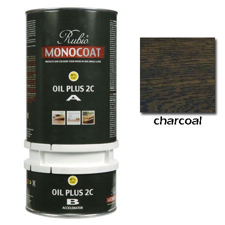 Rubio Monocoat Oil Plus 2C Finish Charcoal 1.3 Liters