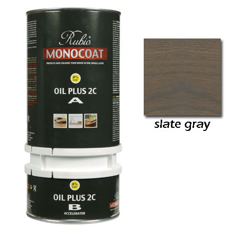 Rubio Monocoat Oil Plus 2C Finish Slate Gray 1.3 Liters